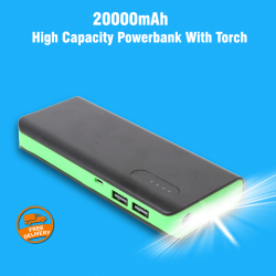 Padpad External Digital Long Lasting High Capacity Powerbank With Torch, NN805