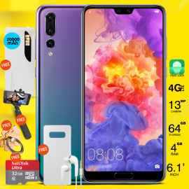 "5 In 1 Bundle Offer, X-s2 Smartphone 4g Dual Sim, Dual Cam, 6.1"" Ips, 64gb, Free Selfie Stick, Ring Holder, Portable Usb Led Lamp, Max Universal 20000mah Power Bank With 2 Usb Port With Torch, Sandisk Ultra 32gb Card"