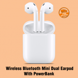 HBQ i7S Twins Wireless Bluetooth Mini Dual Earpod With PowerBank, i7STWS