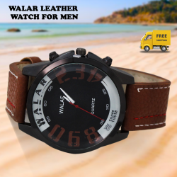 Walar Quartz Leather Band Watch For Men, WG114