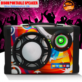 Bison Multimedia Speaker, USB/SD/FM/Mic, MS-158BT